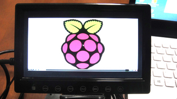 Raspberry Pi displayed to HDMI7inch monitor by default settings.JPG